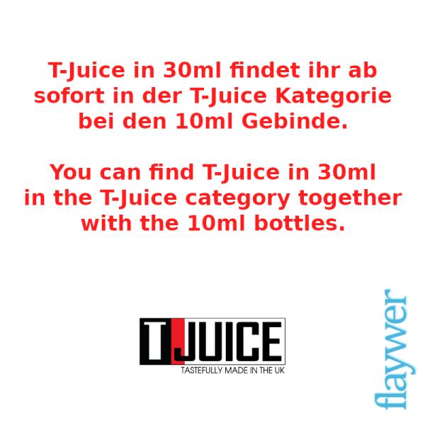 T-Juice 30ml Aroma ab sofort direkt in der T-Juice Kategorie
