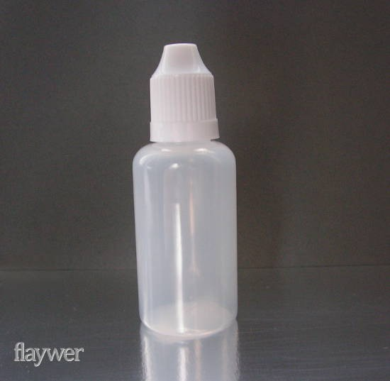 Plastic bottle with thin dropper - 30ml
