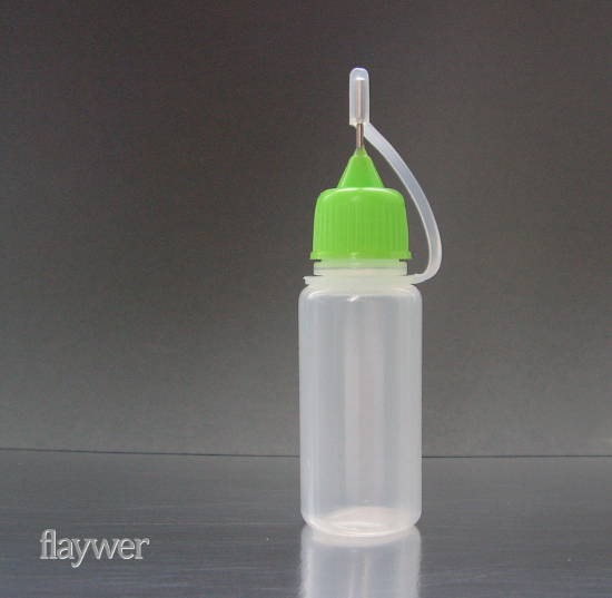 Plastic bottle with metal needle cap - 10ml