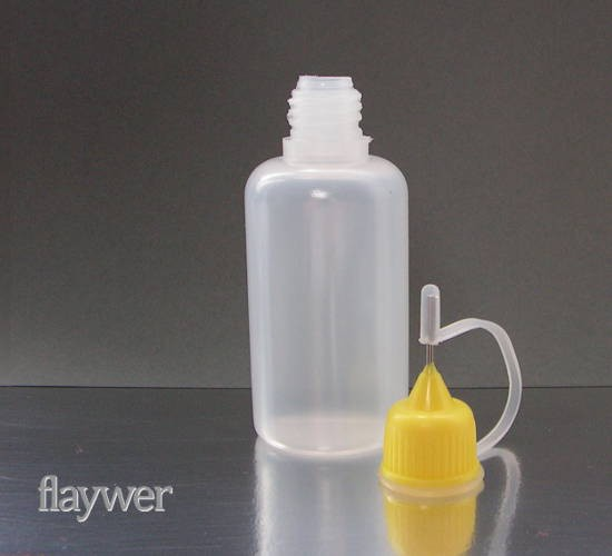 Plastic bottle with metal needle cap - 30ml