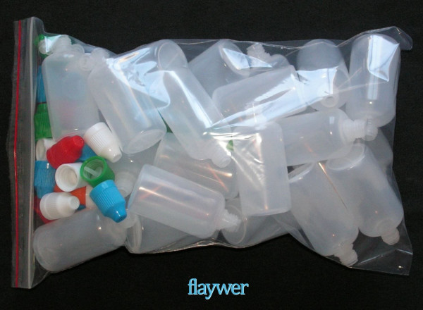 Plastic bottle with thin dropper - 50ml (Bundle of 25)